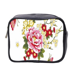 Butterfly Flowers Rose Mini Toiletries Bag 2 Side by Jojostore