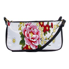 Butterfly Flowers Rose Shoulder Clutch Bags by Jojostore