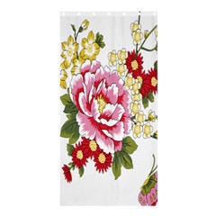 Butterfly Flowers Rose Shower Curtain 36  X 72  (stall)  by Jojostore