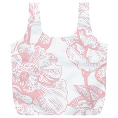 Vintage Pink Floral Full Print Recycle Bags (l)  by 8fugoso