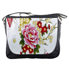 Butterfly Flowers Rose Messenger Bags by Jojostore