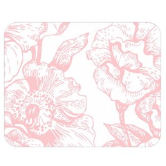Vintage Pink Floral Double Sided Flano Blanket (medium)  by 8fugoso