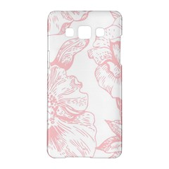 Vintage Pink Floral Samsung Galaxy A5 Hardshell Case  by 8fugoso