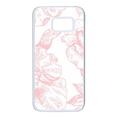 Vintage Pink Floral Samsung Galaxy S7 White Seamless Case by 8fugoso