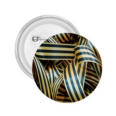 Ribbons Black Yellow 2 25  Buttons by Jojostore