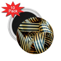 Ribbons Black Yellow 2 25  Magnets (10 Pack)  by Jojostore