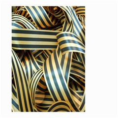 Ribbons Black Yellow Small Garden Flag (two Sides) by Jojostore