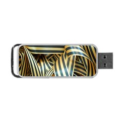 Ribbons Black Yellow Portable Usb Flash (one Side) by Jojostore