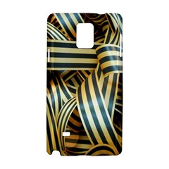 Ribbons Black Yellow Samsung Galaxy Note 4 Hardshell Case by Jojostore