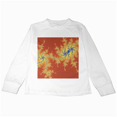 Fractals Kids Long Sleeve T Shirts by 8fugoso