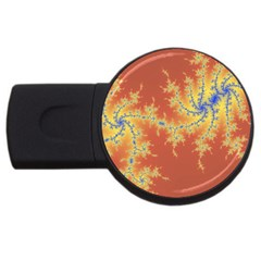 Fractals Usb Flash Drive Round (4 Gb) by 8fugoso