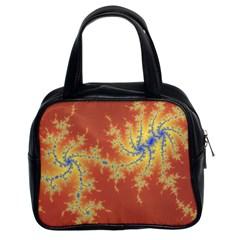 Fractals Classic Handbags (2 Sides) by 8fugoso