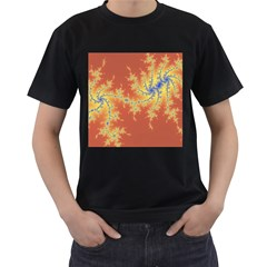 Fractals Men s T Shirt (black) by 8fugoso