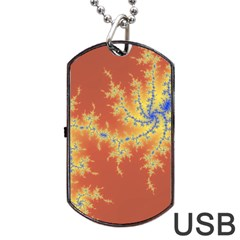 Fractals Dog Tag Usb Flash (one Side) by 8fugoso