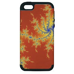 Fractals Apple Iphone 5 Hardshell Case (pc+silicone) by 8fugoso
