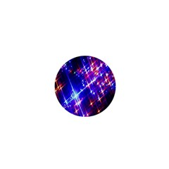 Star Light Space Planet Rainbow Sky Blue Red Purple 1  Mini Buttons by Jojostore