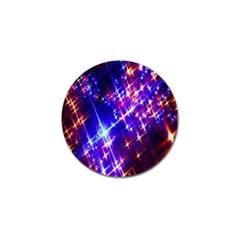 Star Light Space Planet Rainbow Sky Blue Red Purple Golf Ball Marker (10 Pack) by Jojostore