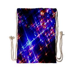 Star Light Space Planet Rainbow Sky Blue Red Purple Drawstring Bag (small) by Jojostore