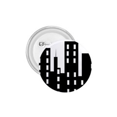 Tower City Town Building Black 1 75  Buttons by Jojostore
