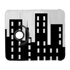 Tower City Town Building Black Galaxy S3 (flip/folio) by Jojostore