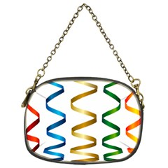 Tape Birthday Ribbon Party Yellow Red Blue Green Gold Rainbow Chain Purses (one Side)  by Jojostore