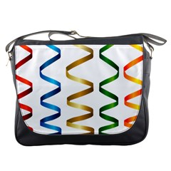 Tape Birthday Ribbon Party Yellow Red Blue Green Gold Rainbow Messenger Bags by Jojostore