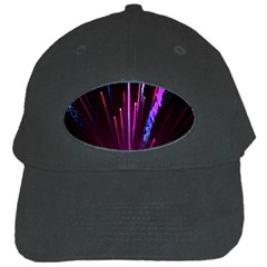 Happy New Year City Semmes Fireworks Rainbow Red Blue Purple Sky Black Cap by Jojostore