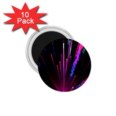 Happy New Year City Semmes Fireworks Rainbow Red Blue Purple Sky 1 75  Magnets (10 Pack)  by Jojostore
