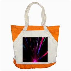 Happy New Year City Semmes Fireworks Rainbow Red Blue Purple Sky Accent Tote Bag by Jojostore