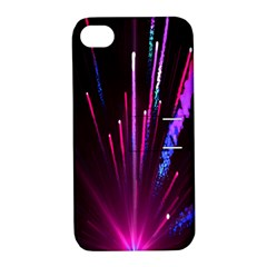 Happy New Year City Semmes Fireworks Rainbow Red Blue Purple Sky Apple Iphone 4/4s Hardshell Case With Stand by Jojostore