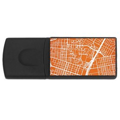Texsas New York Map Art City Line Street Rectangular Usb Flash Drive by Jojostore