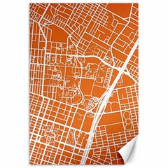 Texsas New York Map Art City Line Street Canvas 24  X 36  by Jojostore