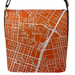 Texsas New York Map Art City Line Street Flap Messenger Bag (s) by Jojostore