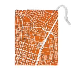 Texsas New York Map Art City Line Street Drawstring Pouches (extra Large) by Jojostore