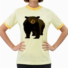 Brown Bears Animals Women s Fitted Ringer T Shirts by Jojostore