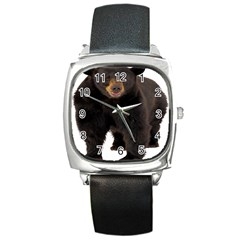 Brown Bears Animals Square Metal Watch by Jojostore
