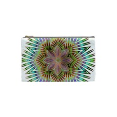 Star Flower Glass Sexy Chromatic Symmetric Cosmetic Bag (small)  by Jojostore