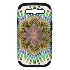 Star Flower Glass Sexy Chromatic Symmetric Samsung Galaxy S Iii Hardshell Case (pc+silicone) by Jojostore