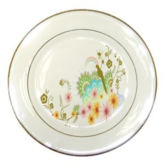 Wreaths Sexy Flower Star Leaf Rose Sunflower Bird Summer Porcelain Plates by Mariart