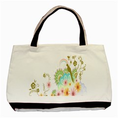 Wreaths Sexy Flower Star Leaf Rose Sunflower Bird Summer Basic Tote Bag (two Sides) by Mariart