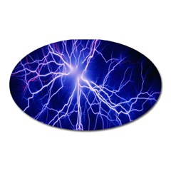 Blue Sky Light Space Oval Magnet by Mariart