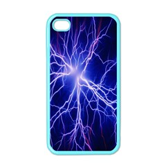 Blue Sky Light Space Apple Iphone 4 Case (color) by Mariart