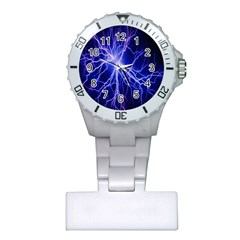 Blue Sky Light Space Plastic Nurses Watch by Mariart