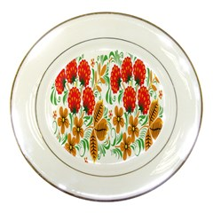 Flower Floral Red Yellow Leaf Green Sexy Summer Porcelain Plates by Mariart
