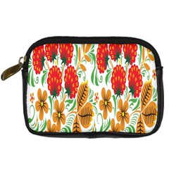 Flower Floral Red Yellow Leaf Green Sexy Summer Digital Camera Cases by Mariart