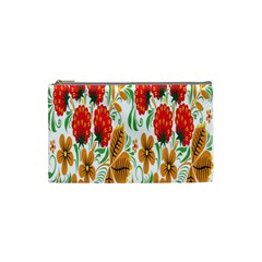Flower Floral Red Yellow Leaf Green Sexy Summer Cosmetic Bag (small)  by Mariart