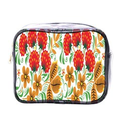 Flower Floral Red Yellow Leaf Green Sexy Summer Mini Toiletries Bags by Mariart