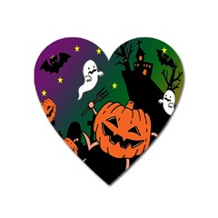 Happy Halloween Heart Magnet by Mariart
