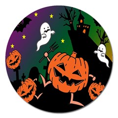 Happy Halloween Magnet 5  (round) by Mariart