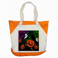 Happy Halloween Accent Tote Bag by Mariart